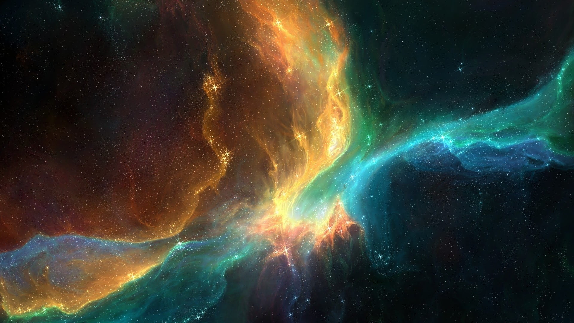 space colorful galaxy stars wallpaper