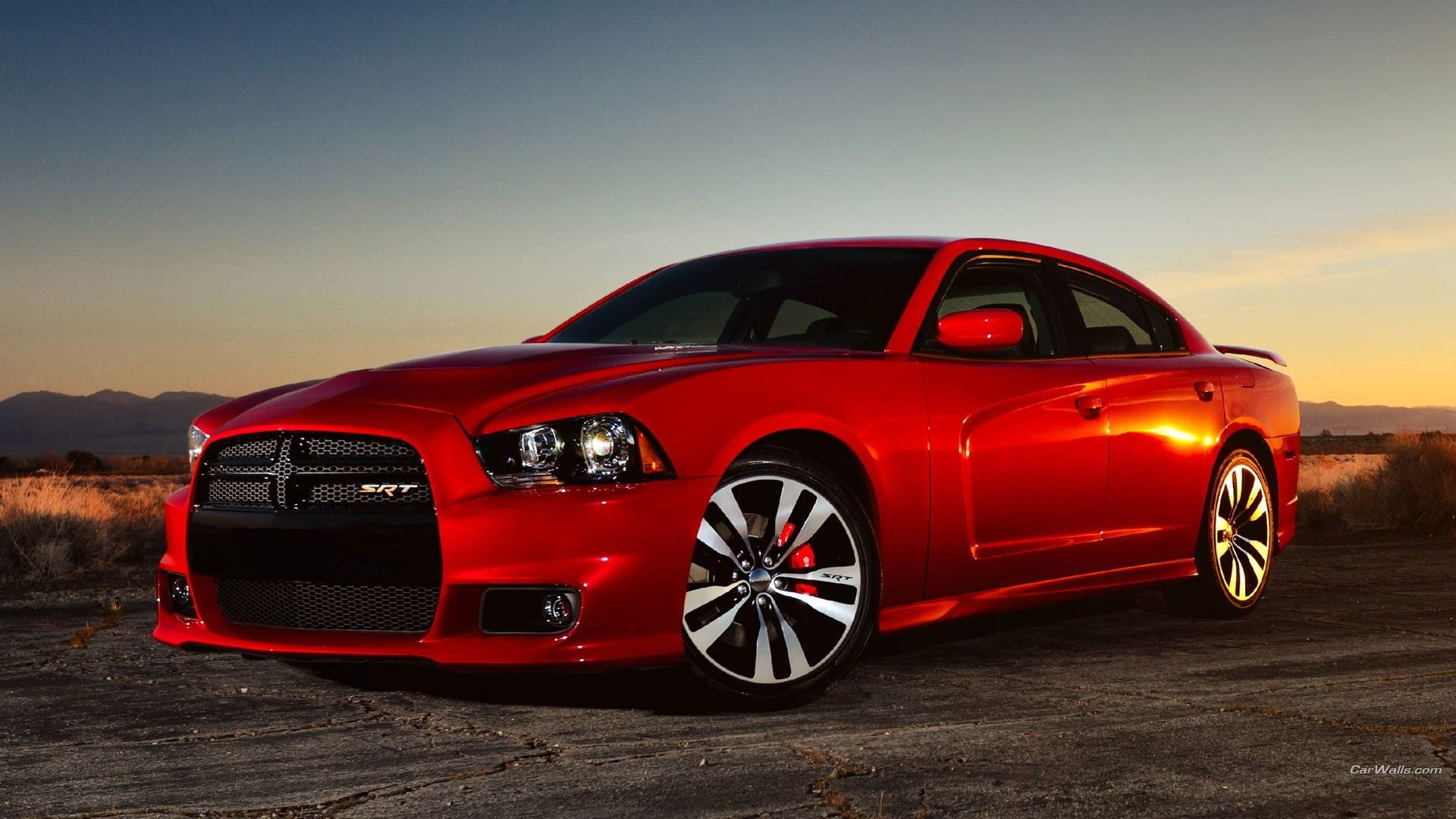 Red Dodge Charger Hellcat Wallpaper