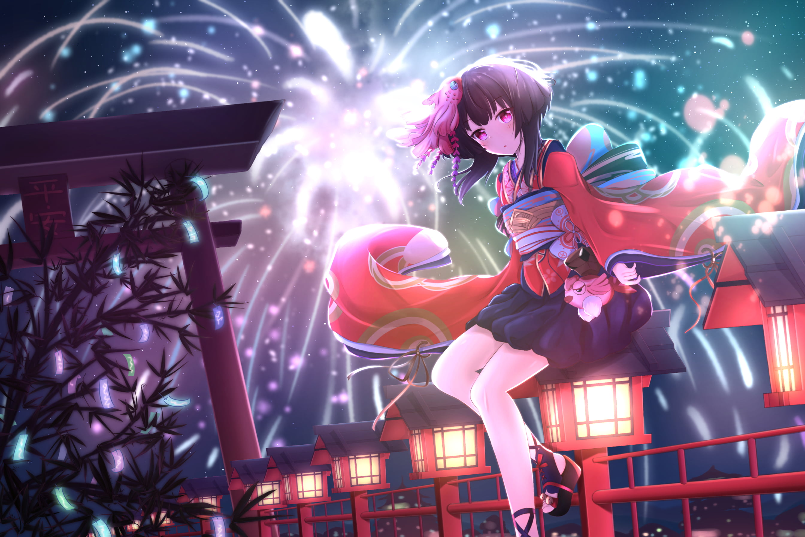 Wallpaper New Year Anime