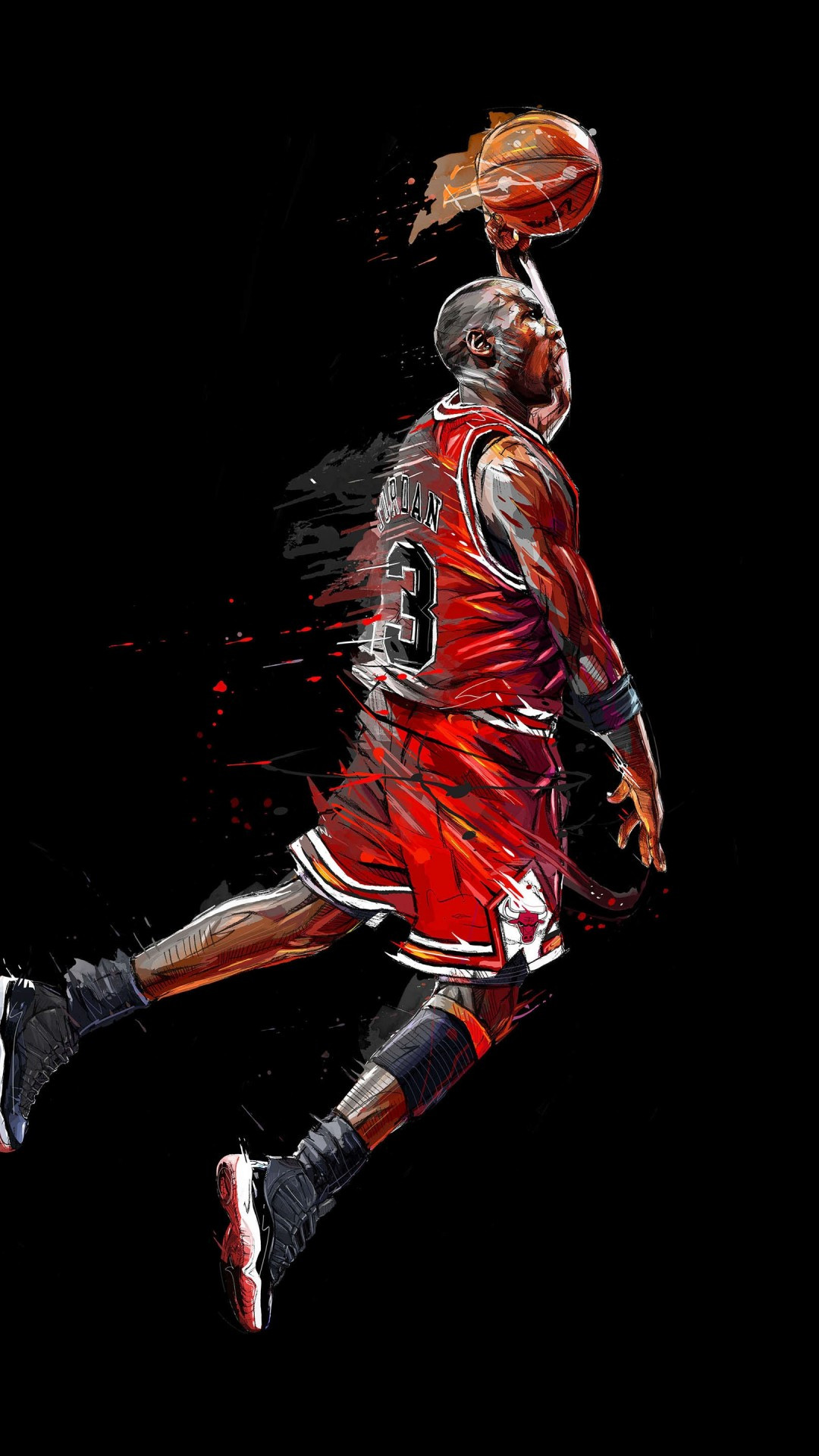 michael jordan basketball artwork
