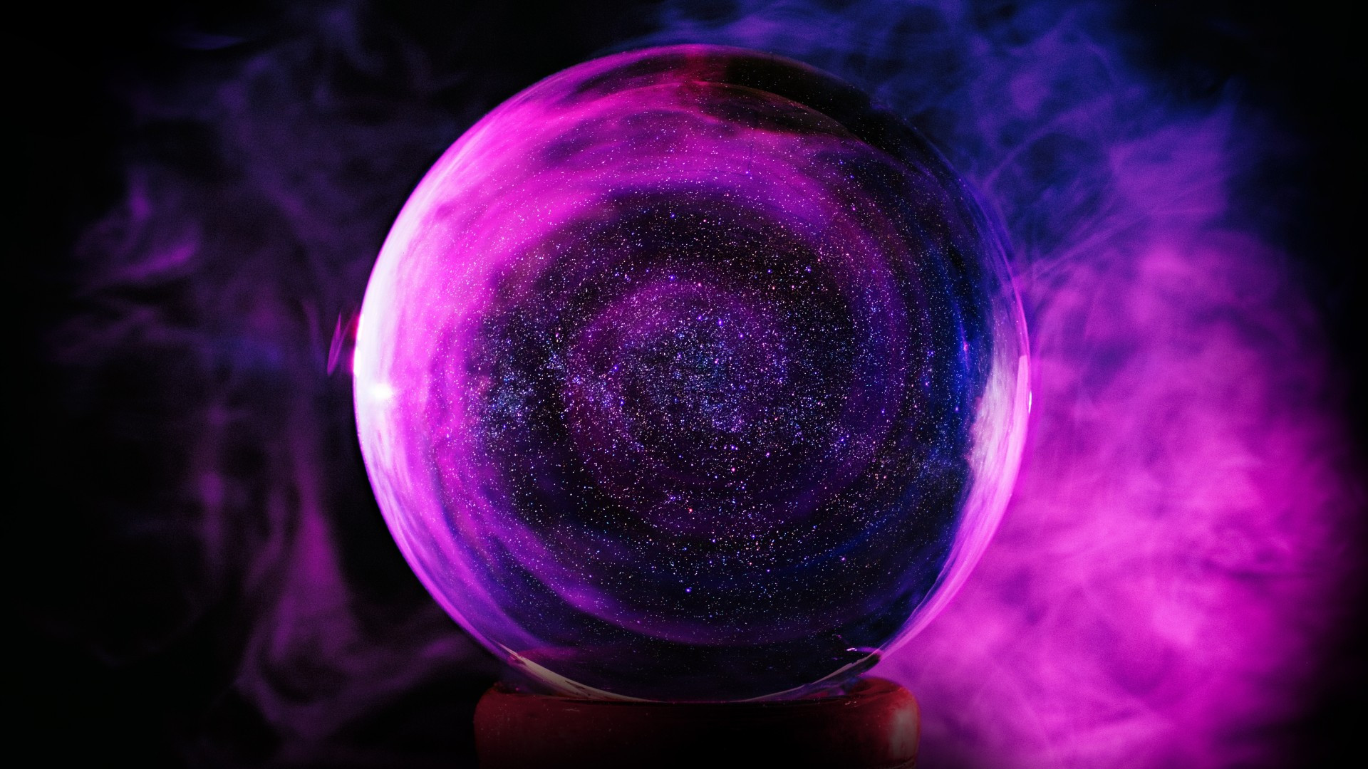 neon ball stars galaxy purple abstract
