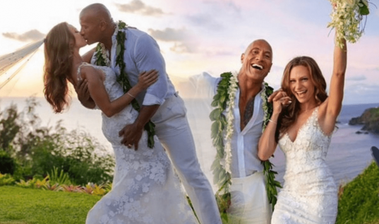 The Rock Marries Long-Term Girlfriend Lauren Hashian