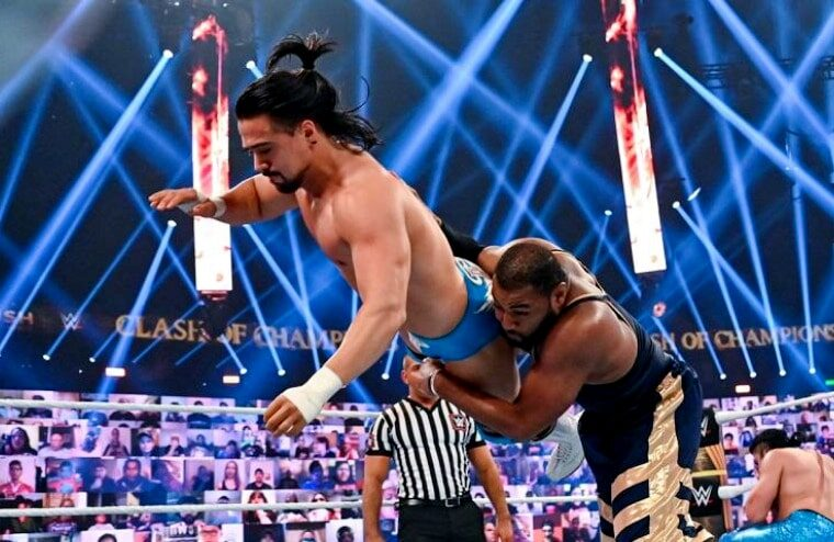 Angel Garza Injured During Clash Of Champions Tag Match