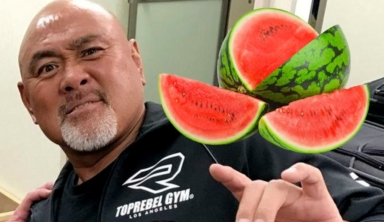 Video Of The Great Muta Eating A Watermelon Goes Viral