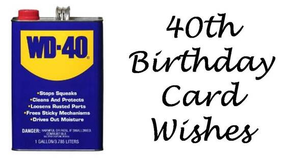 40th Birthday Messages What To Write In A 40th Birthday Card Wishes Messages Sayings