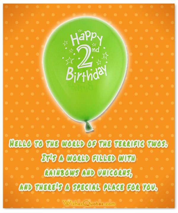 2nd Birthday Wishes Baby Turns Two By Wishesquotes
