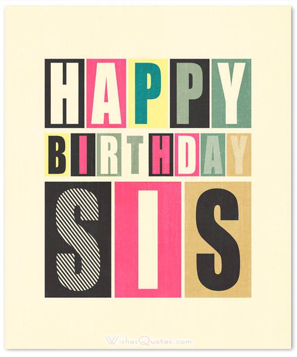 100 Cute Birthday Wishes For Sister By Wishesquotes
