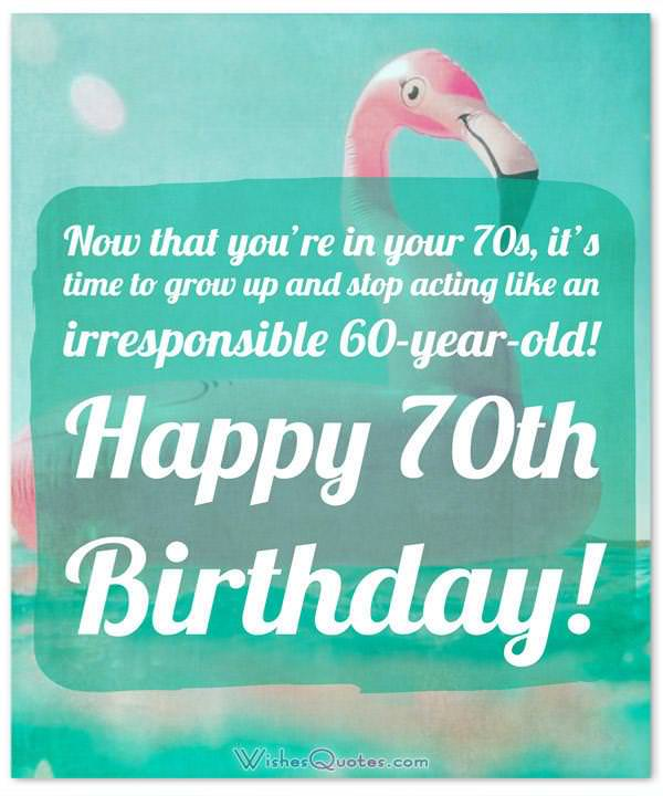 70th Birthday Wishes And Birthday Card Messages By Wishesquotes