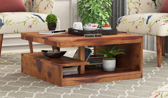 Buy Liddle Tea Table Teak Finish Online In India Wooden Street