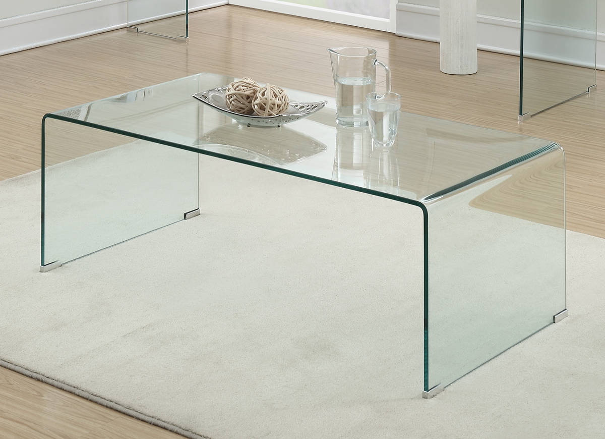 Coaster 705328 Clear Finish Coffee Table