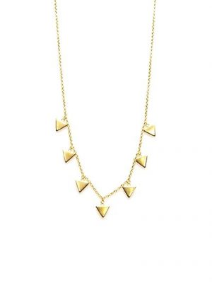 Karma Necklace 7 Triangles Gold