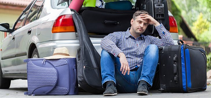 The emotional stages of taking a long car journey with kids