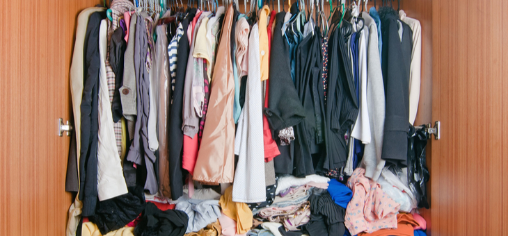 How to declutter a messy wardrobe