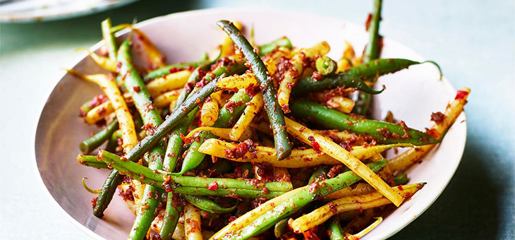 Spicy Green Beans with Chilli and Garlic