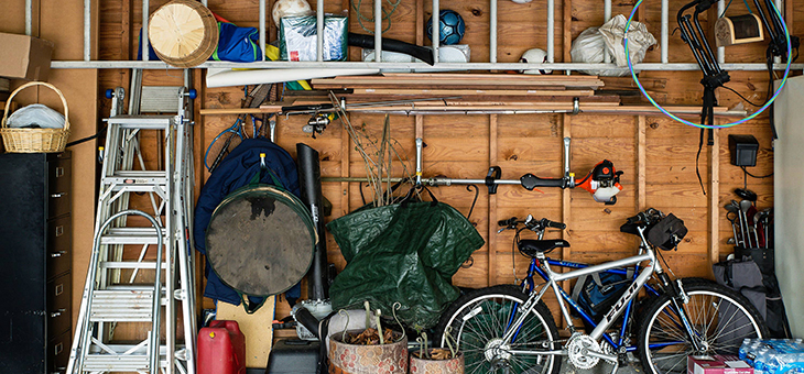 Where to start when clearing the garage