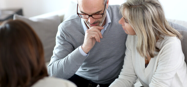couple with financial planner