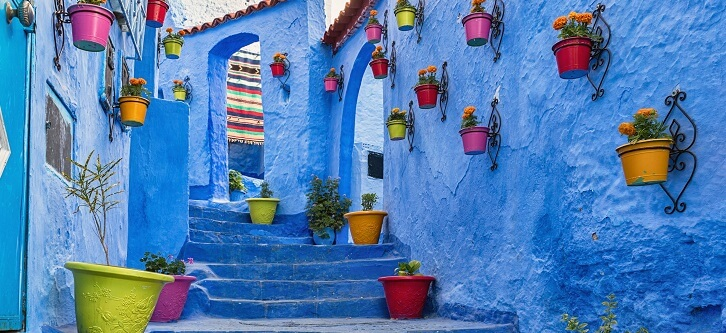 Blue steps in Chefchaouen