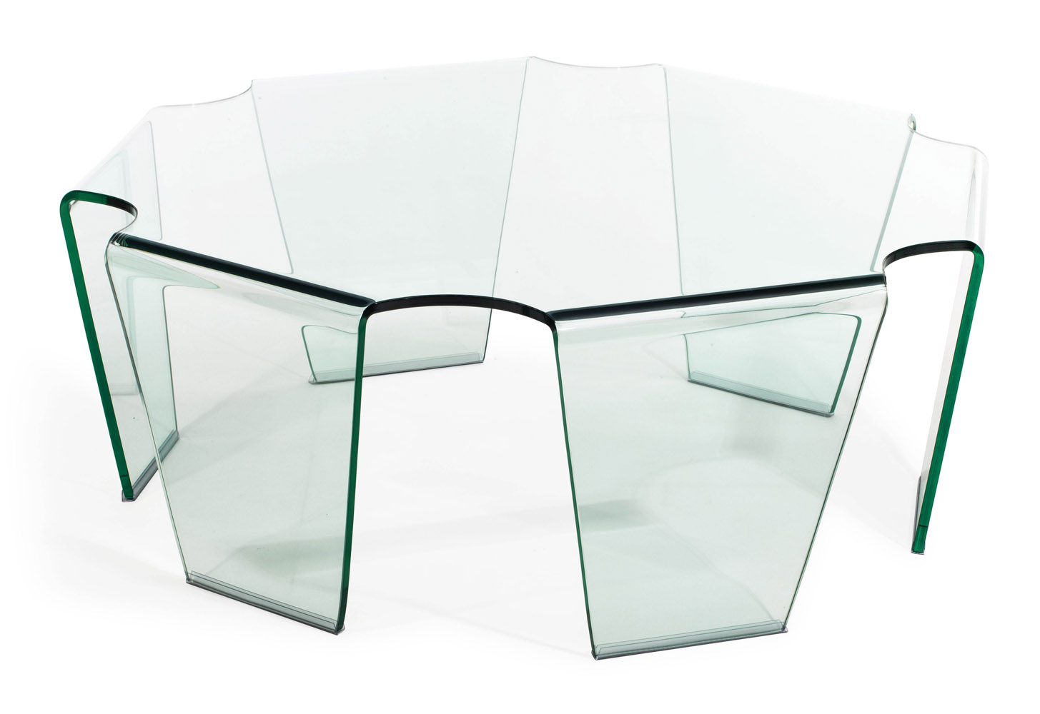 Cleo Tempered Glass Coffee Table Clear Glass Zuri Furniture