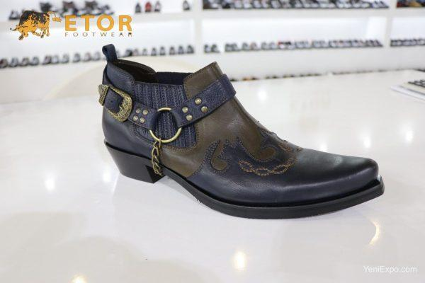 Etor cowboy western genuine leather mens ankle boots dress shoes