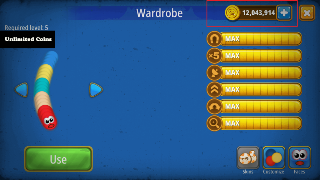 worms zone unlimited coins