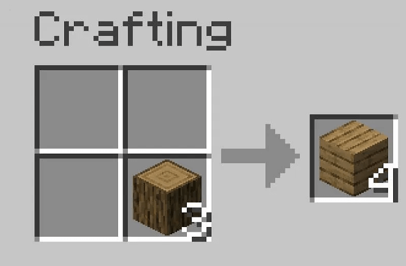 convert logs into wooden planks