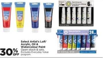 Michaels Artist S Loft Acrylic Oil Watercolour Paint